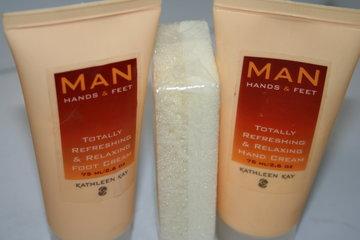 Man Kit Hand & Foot Cream + Scrub Rock
